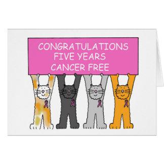 Cinq ans de cancer libèrent l'anniversaire carte de vœux