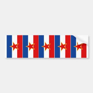 CINQ drapeaux de la Yougoslavie Autocollant Pour Voiture