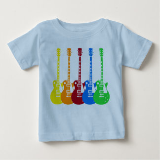 Cinq guitares électriques t-shirt pour bébé