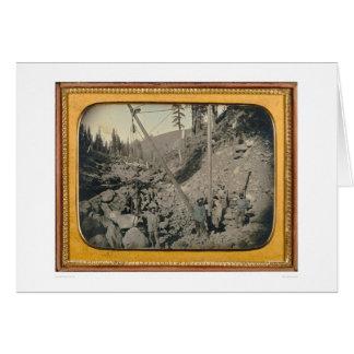 Cinq mineurs de lit de la rivière… (40064) carte de vœux