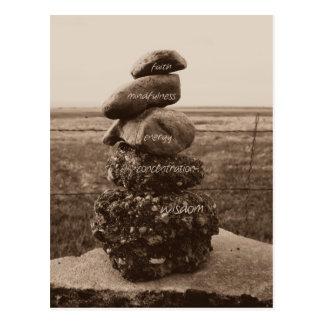 Cinq vertus de zen carte postale