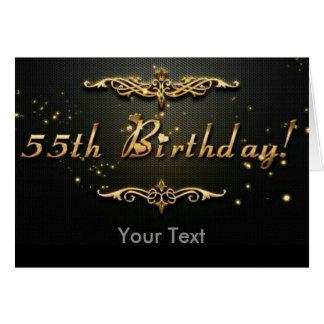 cinquante-cinquième Anniversaire ! Carte De Vœux
