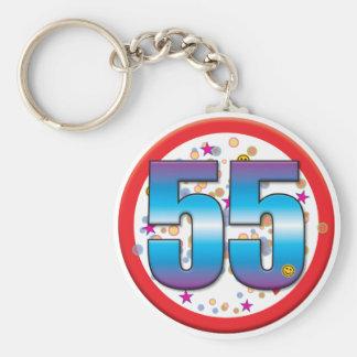 cinquante-cinquième Anniversaire v2 Porte-clé Rond