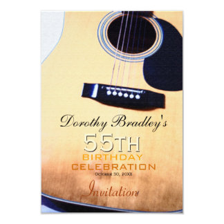 Cinquante-cinquième coutume de célébration cartons d'invitation personnalisés