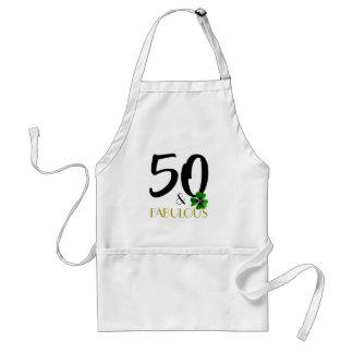 Cinquante et tablier fabuleux de tissu