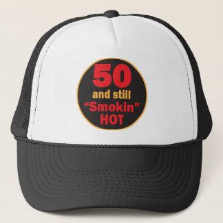 Cinquante et toujours anniversaire chaud de Smokin Casquette
