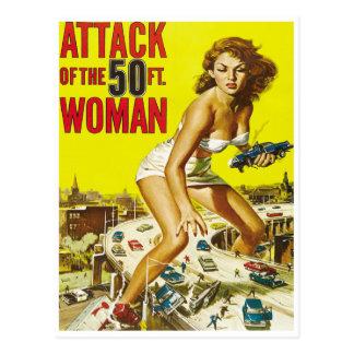 Cinquante femmes d'alien de pied carte postale