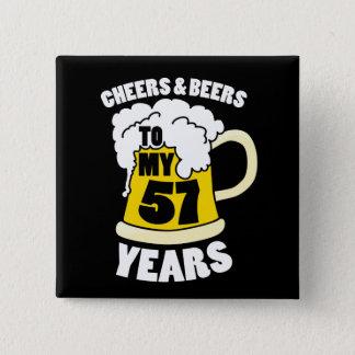 cinquante-septième Fête d'anniversaire Badges