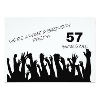 cinquante-septième invitation de partie avec les carton d'invitation  12,7 cm x 17,78 cm