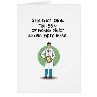 Cinquante-troisième humour de carte d'anniversaire