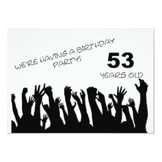 cinquante-troisième invitation de partie avec les carton d'invitation  12,7 cm x 17,78 cm