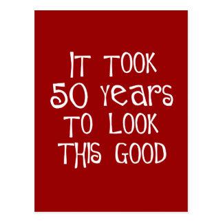cinquantième anniversaire, 50 ans pour regarder cartes postales