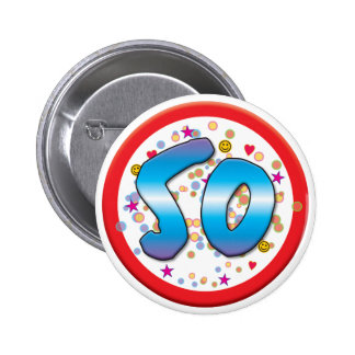cinquantième Anniversaire Badges