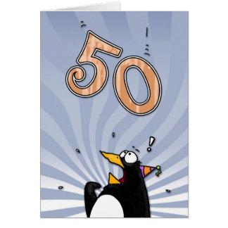 cinquantième anniversaire - carte de surprise de