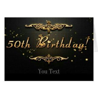 cinquantième Anniversaire Carte De Vœux