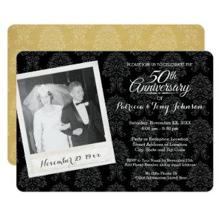 cinquantième Anniversaire de mariage avec la photo Carton D'invitation 12,7 Cm X 17,78 Cm