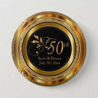Cinquantième anniversaire de mariage d'or chic badges