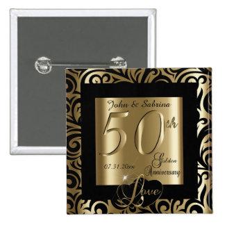 cinquantième Anniversaire de mariage d'or Pin's