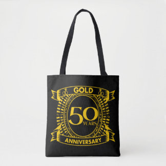 cinquantième Anniversaire de mariage d'or Tote Bag
