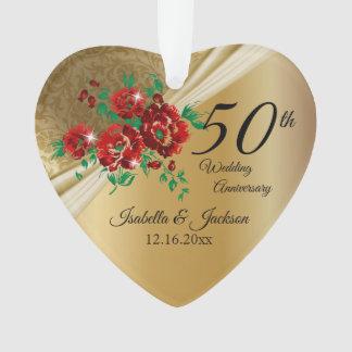 cinquantième Anniversaire de mariage floral d'or