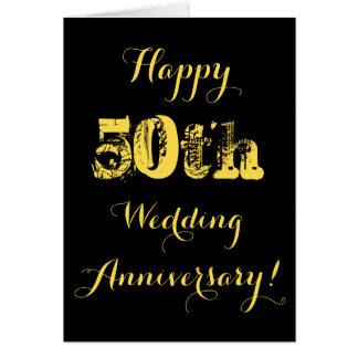 Cinquantième anniversaire de mariage heureux carte de vœux