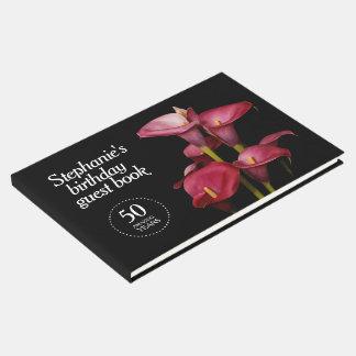 Cinquantième anniversaire de zantedeschias livre d'or