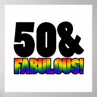 Cinquantième anniversaire d'homosexuel fabuleux posters