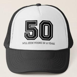 Cinquantième anniversaire drôle casquette