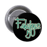 Cinquantième anniversaire fabuleux badges avec agrafe