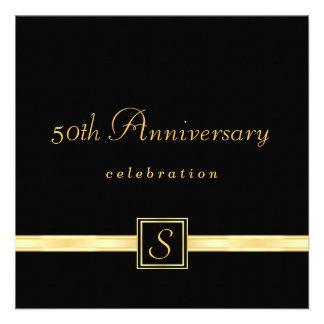 cinquantième anniversaire - invitations classiques