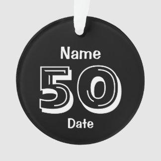 cinquantième Blanc de noir de cadeau de bâillon