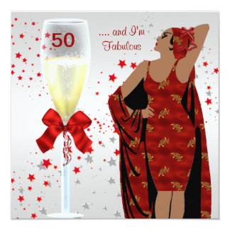 cinquantième Blanc rouge de rétro art déco de diva Bristol Personnalisé