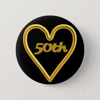 cinquantième Bouton d'anniversaire de mariage Badges