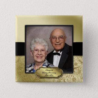 cinquantième Bouton de photo d'anniversaire de Badges