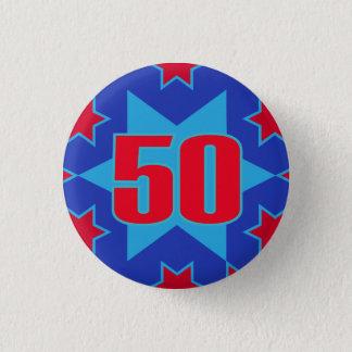 cinquantième Bouton/insigne d'étoile Badge