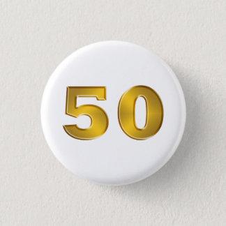 cinquantième Boutons d'or d'anniversaire Badge