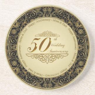 cinquantième Caboteur d'anniversaire de mariage Dessous De Verre