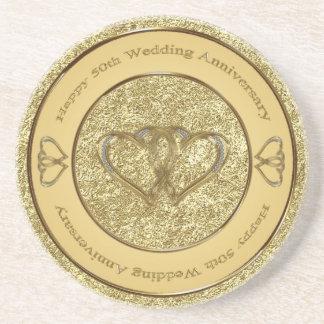 cinquantième Caboteur d'anniversaire de mariage Dessous De Verres