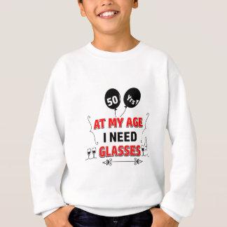 Cinquantième cadeau d'anniversaire drôle d'année sweatshirt