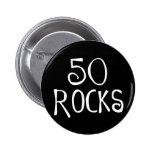 cinquantième cadeaux d'anniversaire, 50 ROCHES Pin's