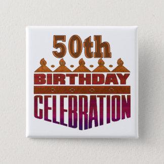 Cinquantième cadeaux d'anniversaire de célébration badges