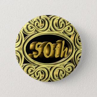 cinquantième Cadeaux d'anniversaire de mariage Badges