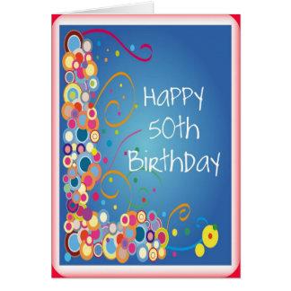 cinquantième Carte d'anniversaire