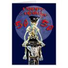 Cinquantième carte d'anniversaire de cycliste