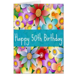 Cinquantième carte d'anniversaire de la diva pour