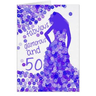 cinquantième Carte d'anniversaire - fabuleuse,