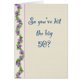 Cinquantième carte d'anniversaire humoristique