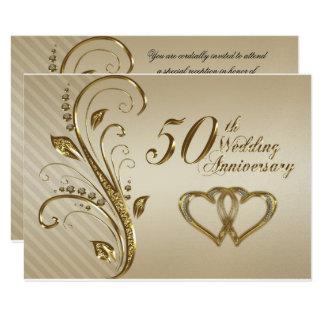 cinquantième Carte de l'anniversaire de mariage
