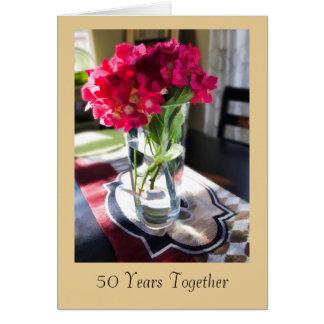 cinquantième Carte de voeux d'anniversaire avec