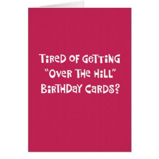 Cinquantième carte de voeux drôle d'anniversaire
